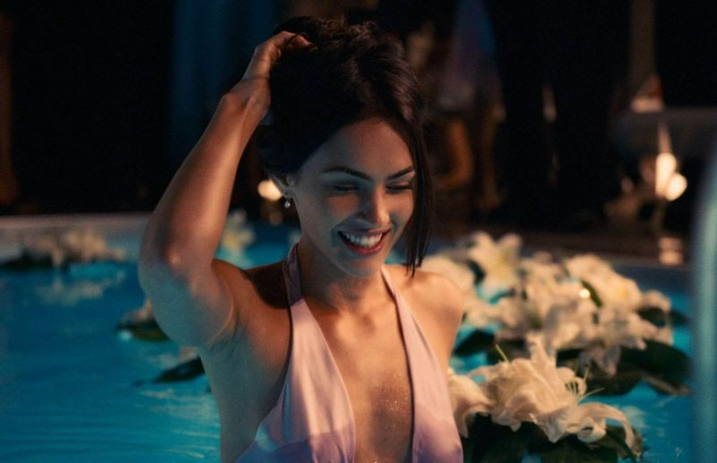 Megan Fox bra wet