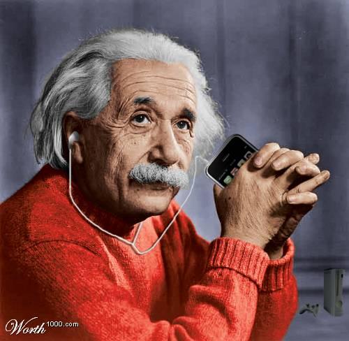 Einstein y su IPOD