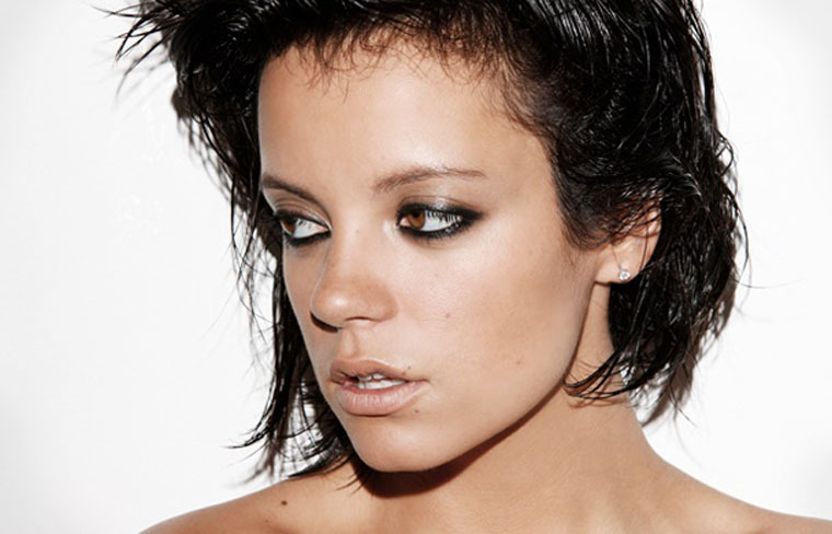Lily Allen topless GQ