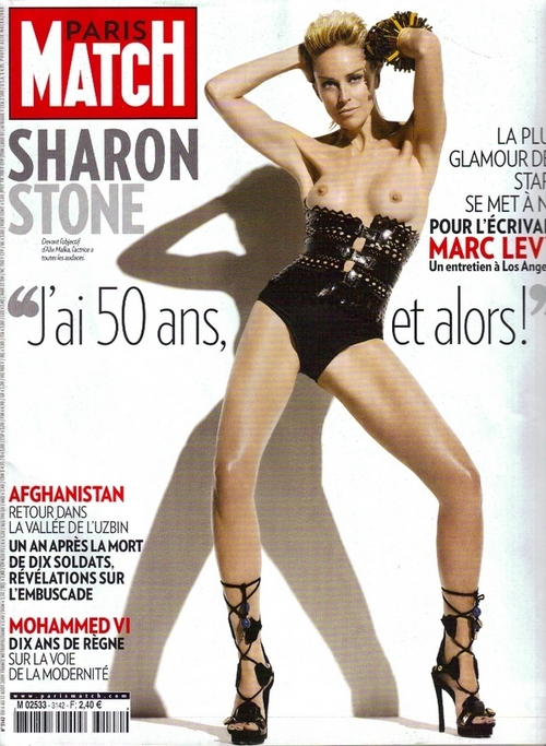 Sharon Stone Paris Match