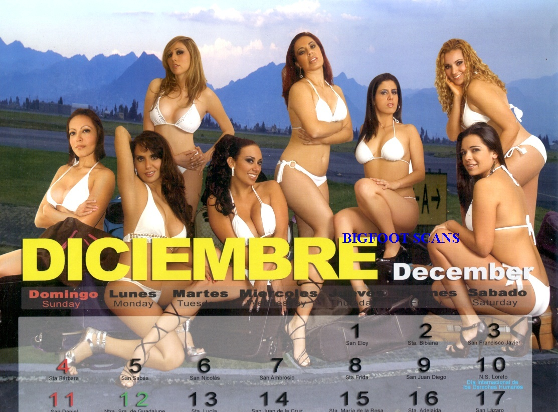 Calendario Azafatas Mexicana