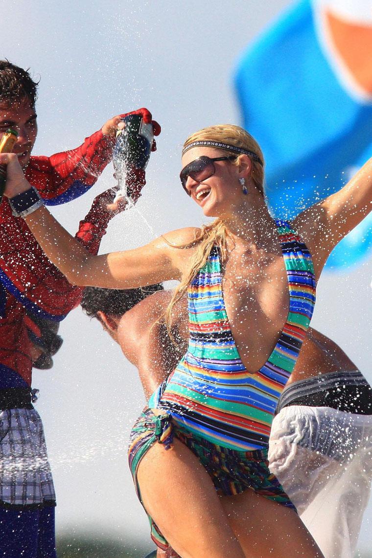 Paris Hilton champagne