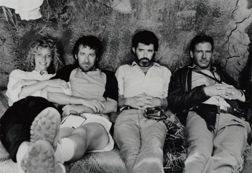 Kate Capshaw Steven Spielberg George Lucas Harrison Ford