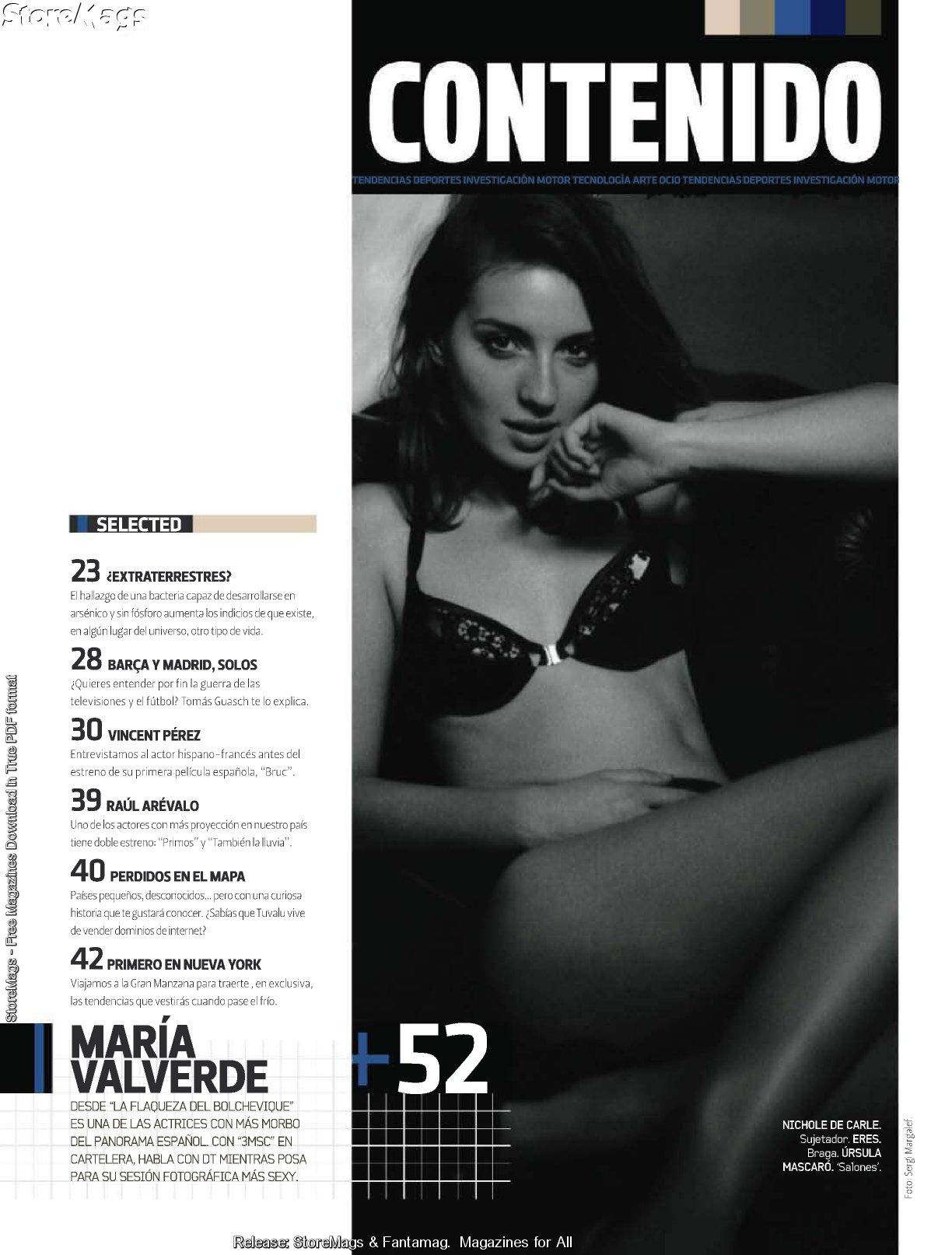 Maria Valverde revista DT 2011