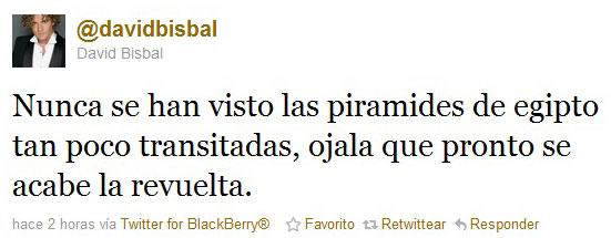David Bisbal Egipto twitter
