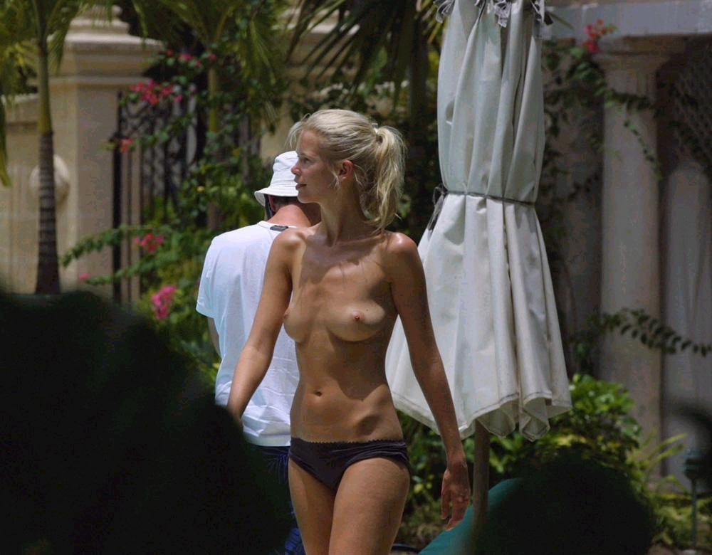 Claudia Schiffer topless barbados