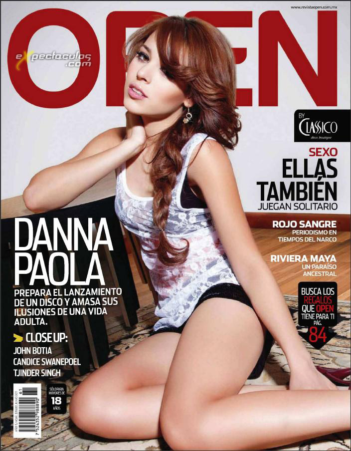 Danna Paola revista Open 2011