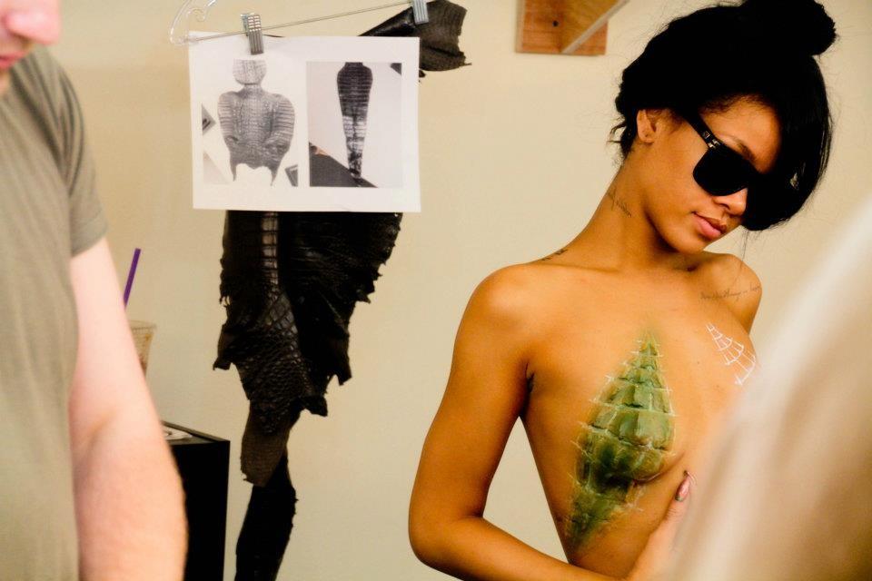 Rihanna Body Paint