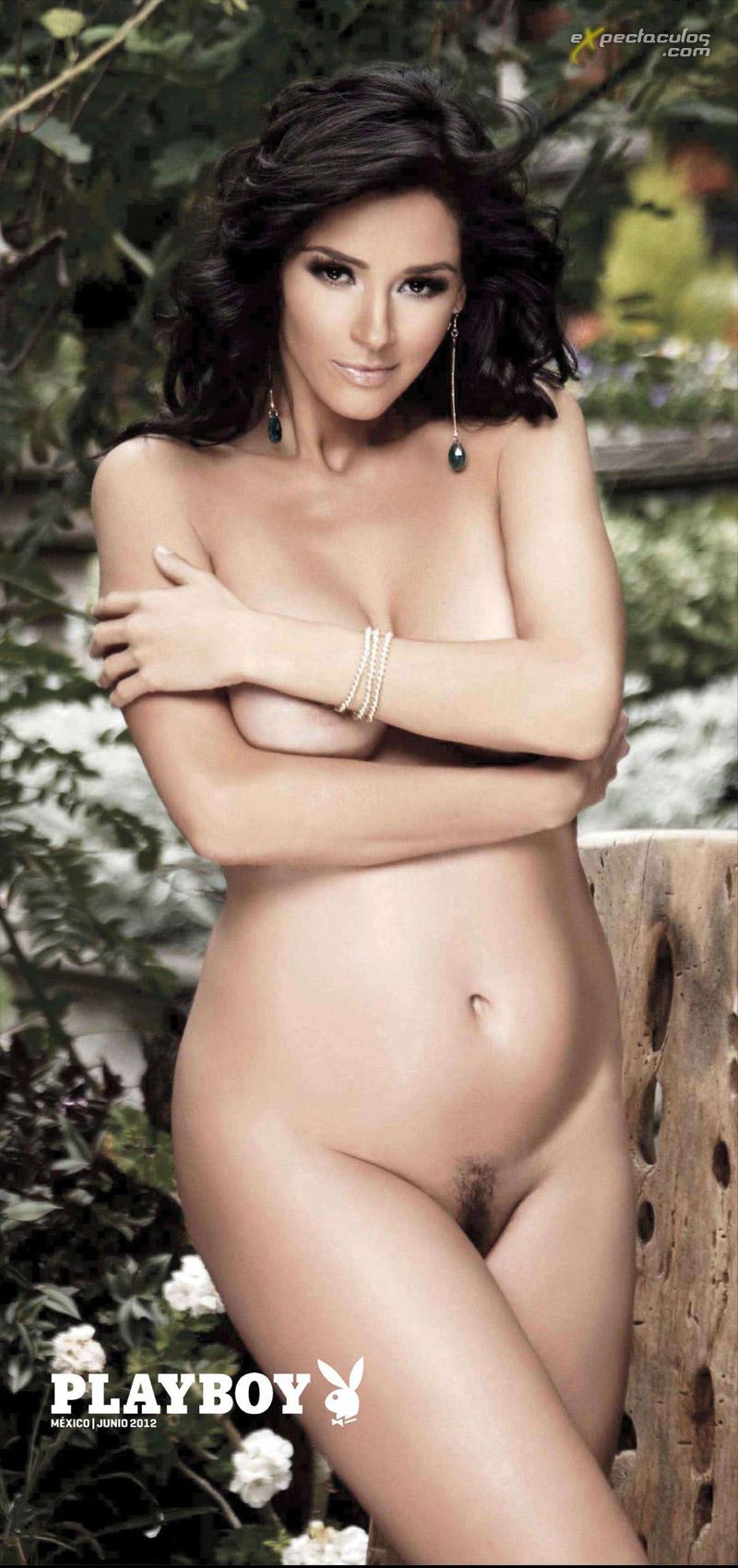 Dorismar embarazada en Playboy