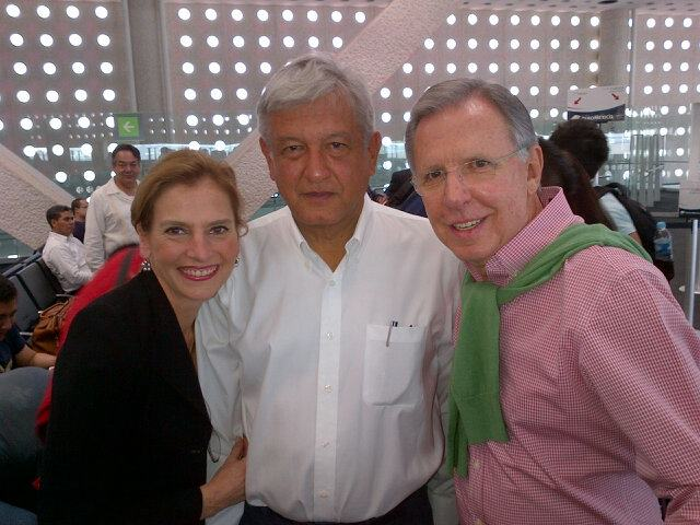 Lopez Obrador con Lopez-Doriga
