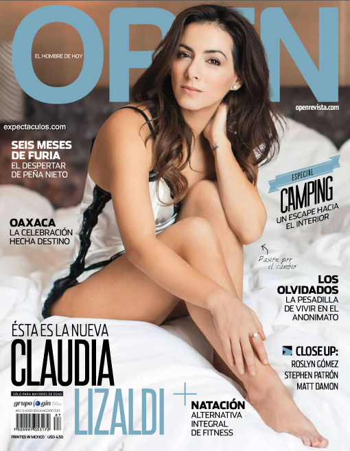 Claudia Lizaldi revista Open
