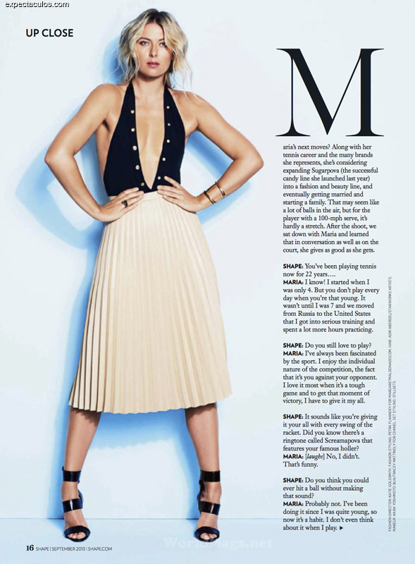 Maria Sharapova Shape magazine