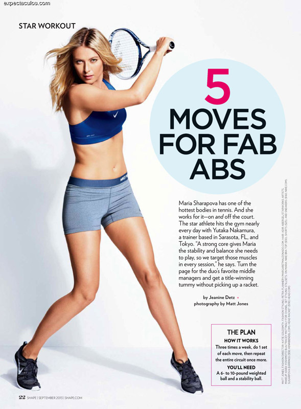 Maria Sharapova Shape magazine
