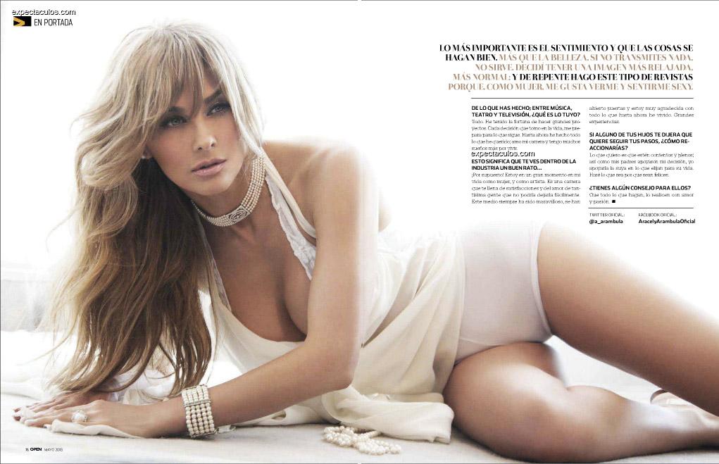 Araceli Arambula revista Open
