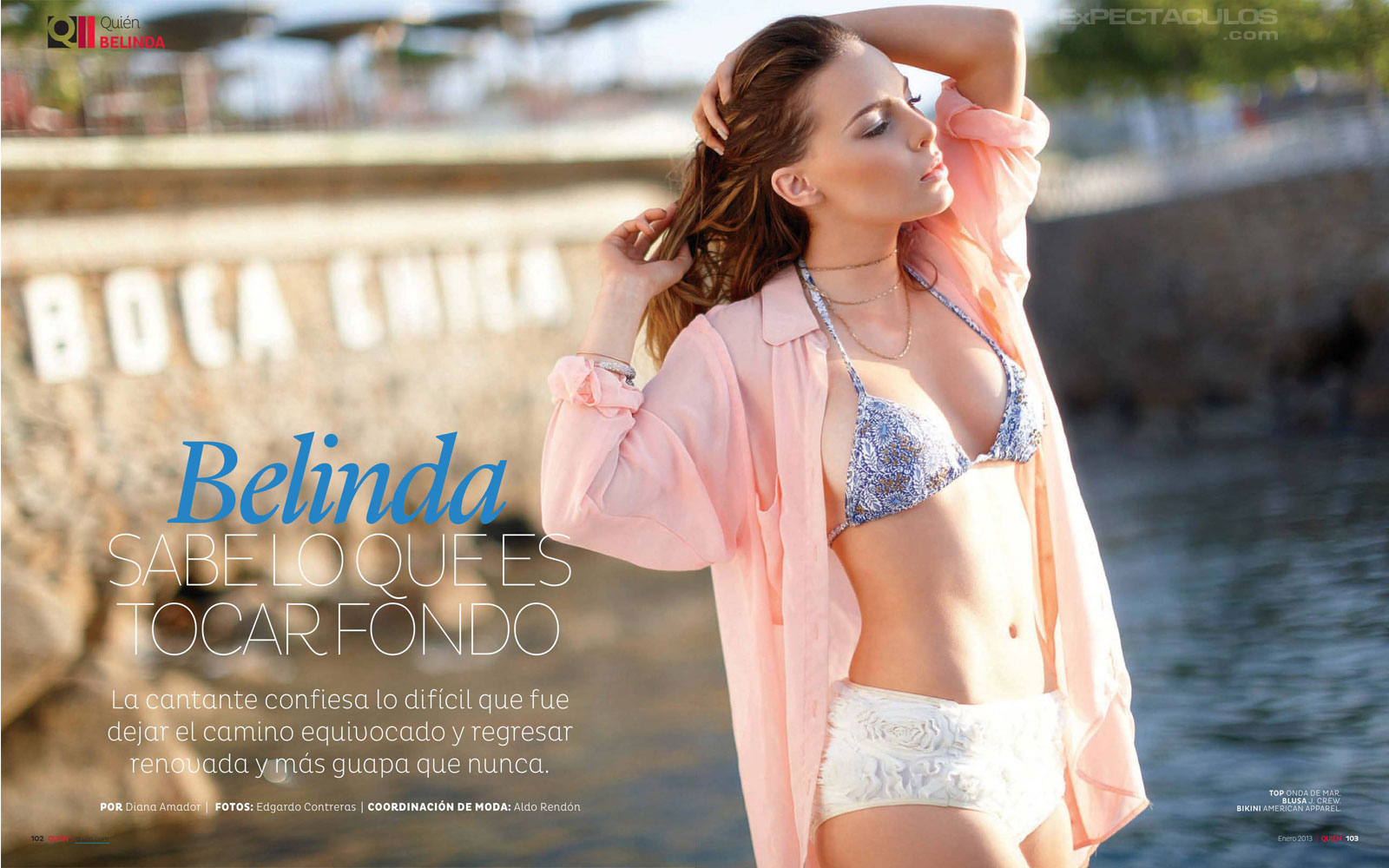 Belinda revista Quien 2013