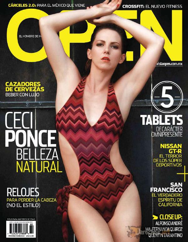Ceci Ponce revista Open