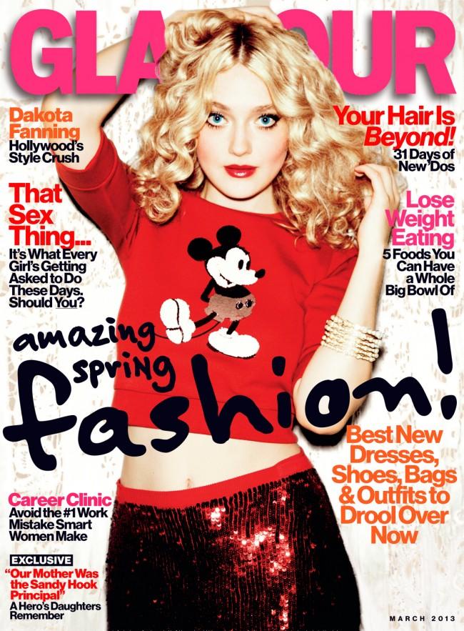 Dakota Fanning revista Glamour