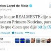 Carlos Loret de Mola se defiende mintiendo