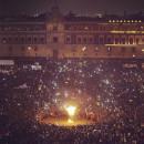 Asi fue la quema de Peña Nieto en el Zocalo