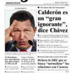 Chavez insulto a Bush no a Calderon