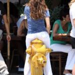 Eva Longoria con un hidrante