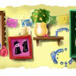 Logo de Google por el dia de muertos