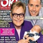 Elton John presenta a su hijo en revista
