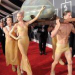 Asi llego Lady Gaga a los premios Grammy