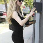 Amanda Seyfried en vestido corto