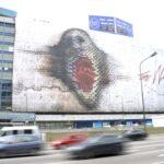"""Buenos Aires homenajea a Roger Waters con imagen gigante de """"The wall"""""""