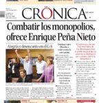 Las portadas de periodicos de La Marcha Anti Peña Nieto