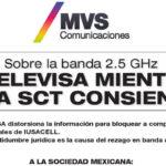 Comunicado de MVS sobre la Banda 2.5 GHz