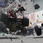 Fotos del accidente de Fernando Alonso en el Gran Premio de Belgica