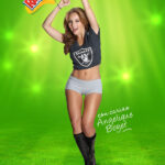 Angelique Boyer en shorts para la NFL