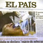 La pifia de El Pais y su foto de Hugo Chavez entubado