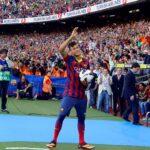 Neymar es presentado en el Camp Nou de Barcelona