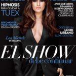 Lea Michele de negro para la portada de Marie Claire Mexico