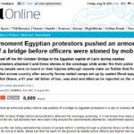El camion blindado que no empujaron de un puente en Egipto