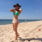 Thalia subio foto en bikini