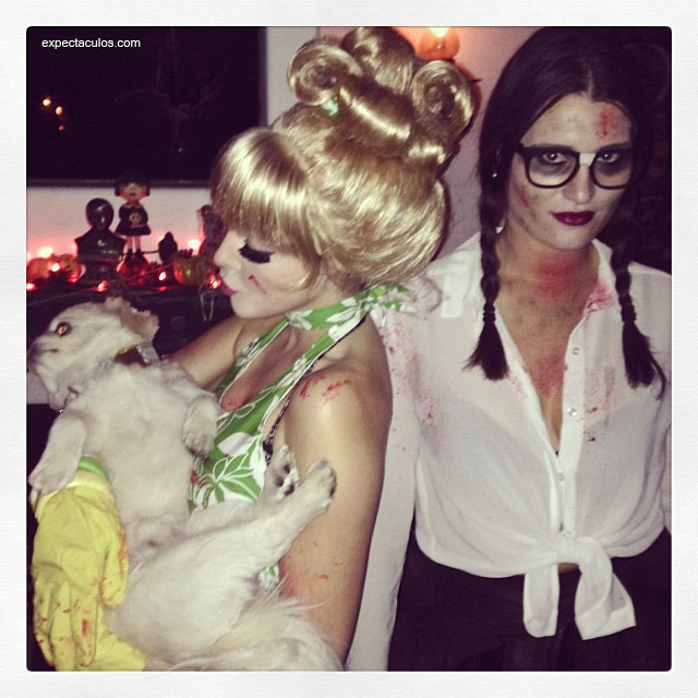Liz gillies and ariana grande halloween