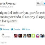 Karla Alvarez abrio su twitter exactamente tres años antes de su muerte