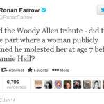 Ronan Farrow ataca a su padre Woody Allen