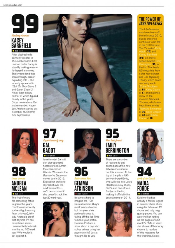 FHM UK â-- 100 Sexiest Women in the World 2014_000005