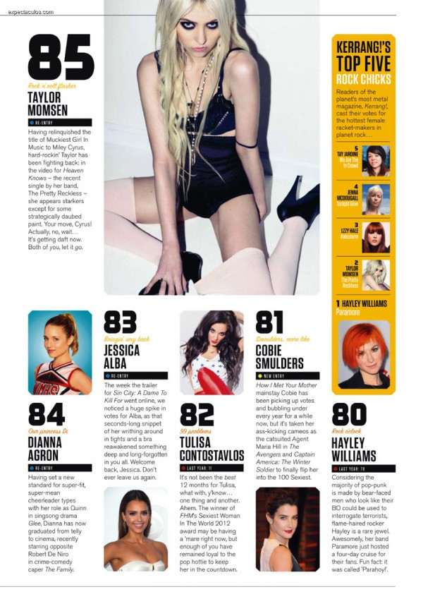 FHM UK â-- 100 Sexiest Women in the World 2014_000009