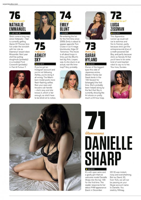 FHM UK â-- 100 Sexiest Women in the World 2014_000012