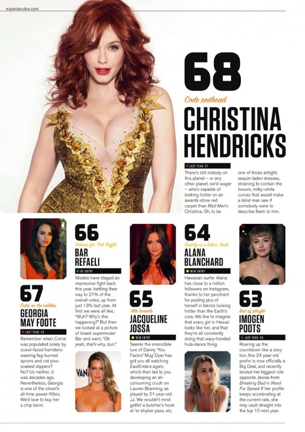 FHM UK â-- 100 Sexiest Women in the World 2014_000015