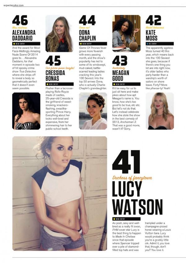 FHM UK â-- 100 Sexiest Women in the World 2014_000022
