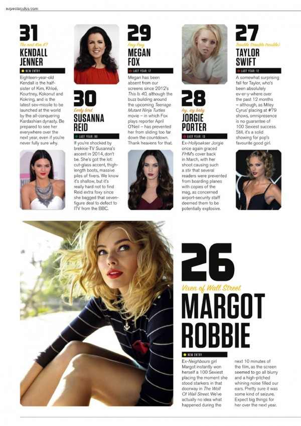 FHM UK â-- 100 Sexiest Women in the World 2014_000028