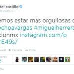 Kate del Castillo felicita a Omar Ochoa en lugar de Memo Ochoa