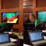 Cachan a Lopez-Doriga viendo partido por TV Azteca